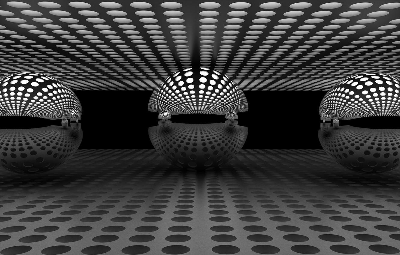 Photo wallpaper reflection, balls, balls, reflection, Antonyus Bunjamin (Abe)