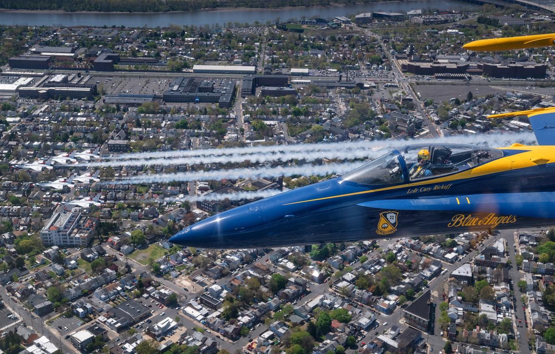 Photo wallpaper Thunderbirds, Blue Angels, New Jersey, Philadelphia