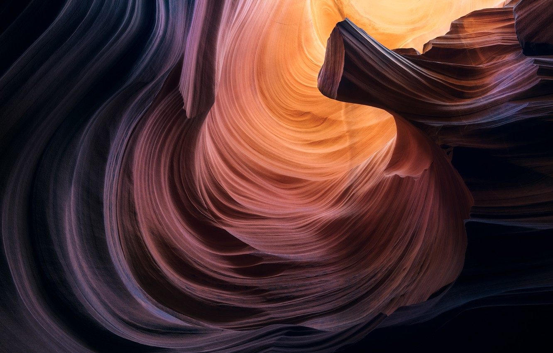 Photo wallpaper nature, rock, rocks, figure, Antelope Canyon