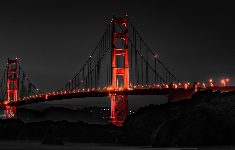 Wallpaper Bridge, Night, San Francisco