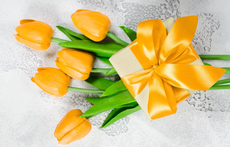 Photo wallpaper love, gift, bouquet, yellow, tape, hearts, tulips, love, heart, yellow, flowers, romantic, hearts, tulips, valentine's …
