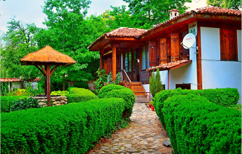 Photo wallpaper House, Park, House, Park, Bulgaria, Bulgaria, Karlovo, Charles