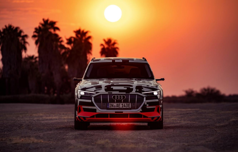 Photo wallpaper light, Audi, the evening, 2018, E-Tron Prototype