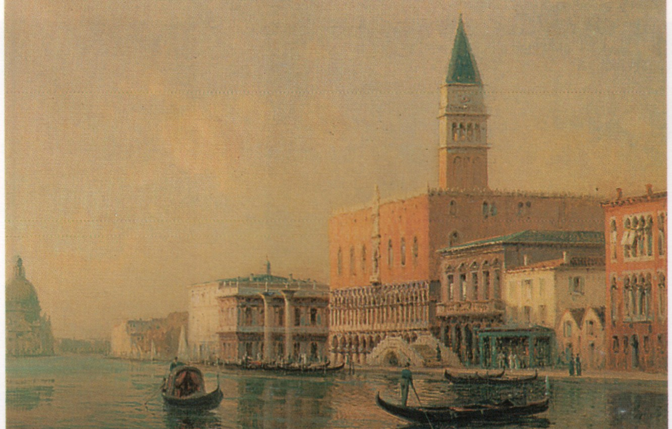 Photo wallpaper BOUVARD, OF THE PIAZZA, GONDOLAS IN FRONT, SAN MARCO