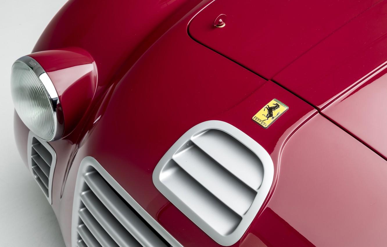 Photo wallpaper Ferrari, Lights, Classic, 1947, Classic car, Icon, Sports car, Sports car, Ferrari 125 Sport