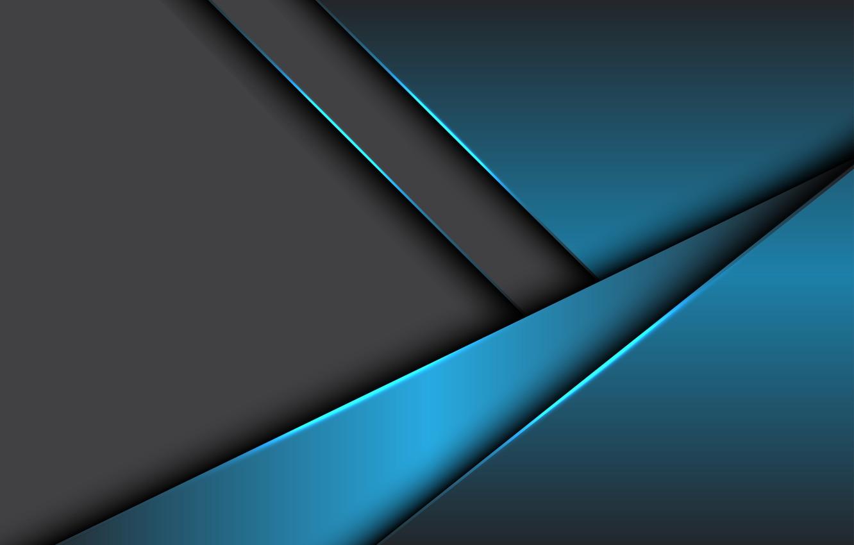 Wallpaper Line Grey Blue Design Metallic Background