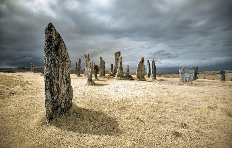 Photo wallpaper Scotland, United Kingdom, Calanais