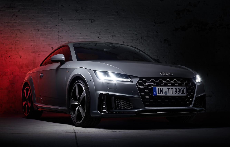 Photo wallpaper Quattro, S-Line, Audi TT, 2019, 45 TFSI, Quantum Gray Edition