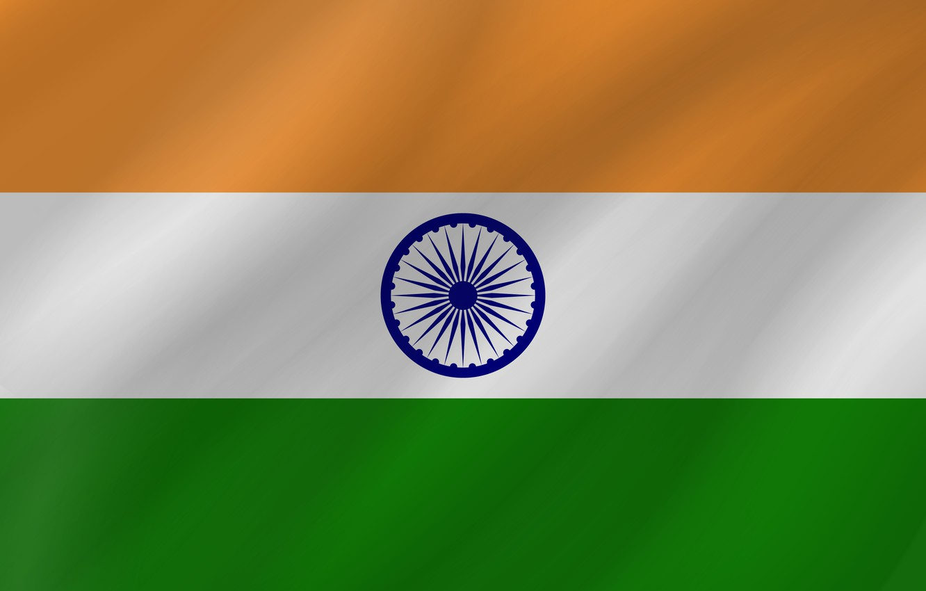 Photo wallpaper Flag, India, Wave, Indian Flag, Flag Of India