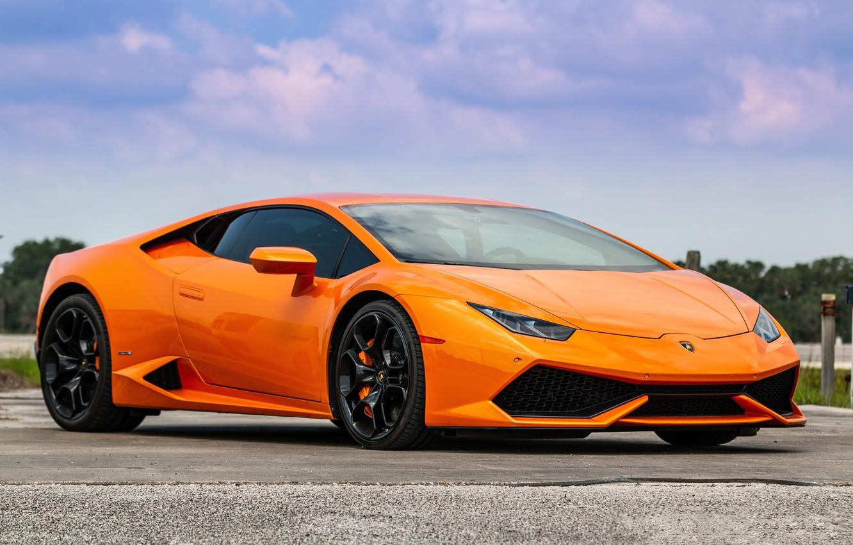 Photo wallpaper Lamborghini, Orange, Huracan, Porter 34