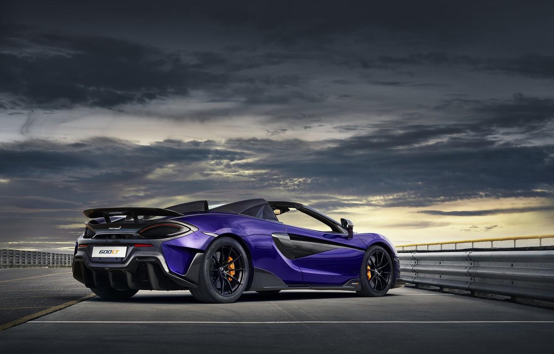 Photo wallpaper overcast, McLaren, supercar, Spider, 2019, 600LT, Lantana Purple