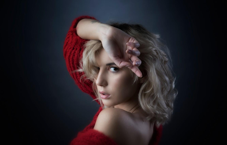 Photo wallpaper girl, bokeh, hair, look, blonde, Marina Nelson
