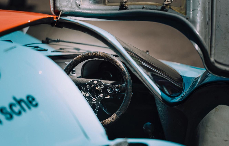 Photo wallpaper Car, Racing, Legend, Interior, Porsche 917K