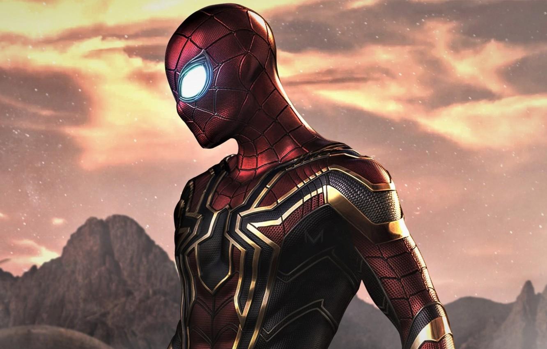 Photo wallpaper spider-man, costume, superhero, Marvel, comic, Comics, Spider-Man, Peter Parker, Far From Home