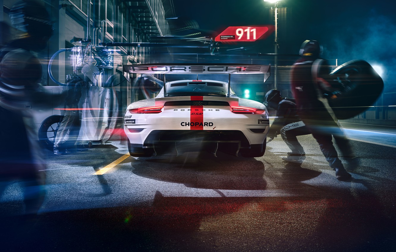 Photo wallpaper Porsche, Porsche, Motorsport, racing car, racing car, motorsports, 2019, Porsche 911 RSR