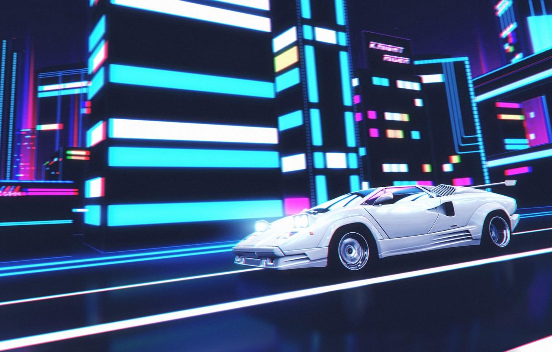Wallpaper Music, Lamborghini, Background, 80s, Neon