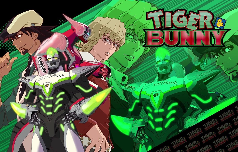 Photo wallpaper anime, art, characters, Kotetsu, tiger and bunny, Barnaby