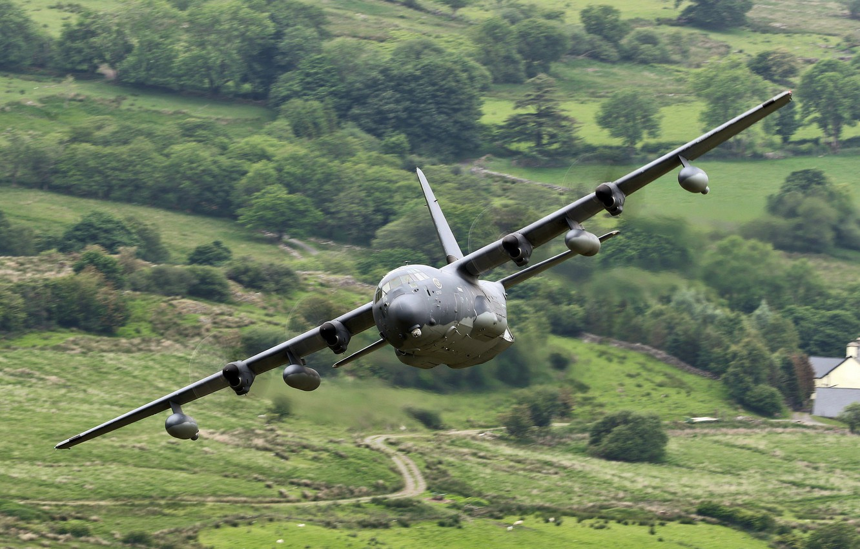 Photo wallpaper the plane, Lockheed, military transport, Hercules, C-130