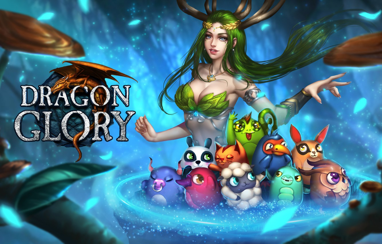Photo wallpaper the game, fantasy, art, pet, Dragon Glory, Rena Illusion, Loading screen for Dragon Glory RU