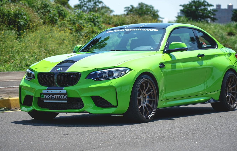 Photo wallpaper BMW, Exhaust, Armytrix, M2, Valvetronic