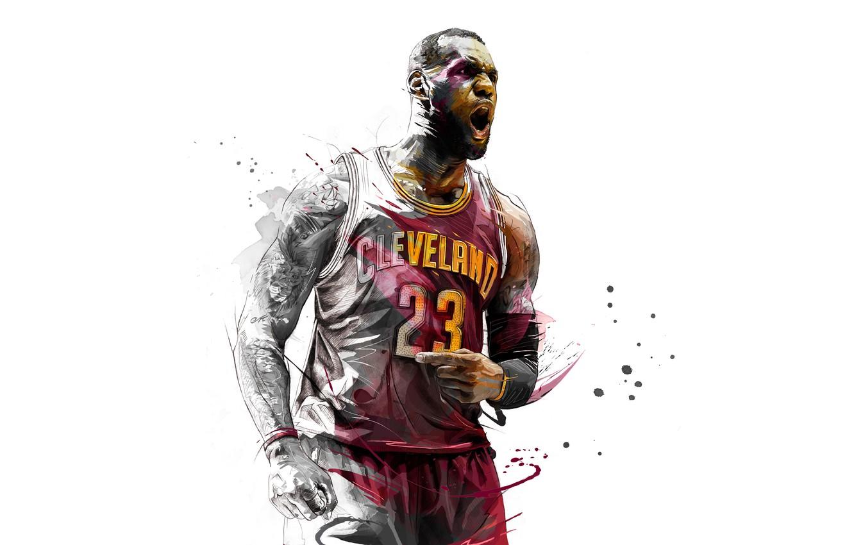 Photo wallpaper LeBron James, Basketball, Cleveland