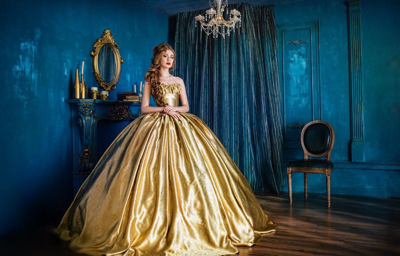 Photo wallpaper look, pose, photo, girls, model, dress, mirror, hairstyle, beautiful, Evgeniya Litovchenko, Yuliya Lunina