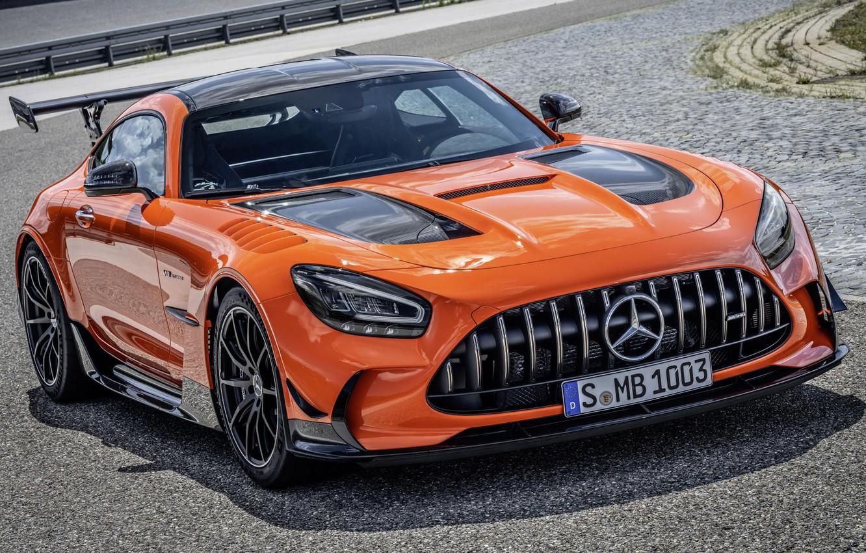 Photo wallpaper supercar, AMG GT Black Series, MAGMA orange