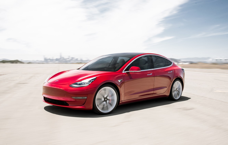 Photo wallpaper Tesla, 2018, Model 3