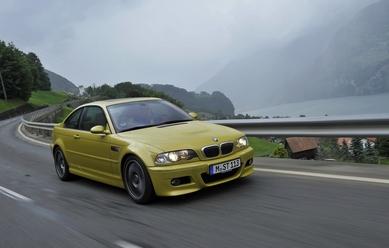 Photo wallpaper coupe, BMW, E46, BMW M3, on the road, M3, two-door, M3 Coupe