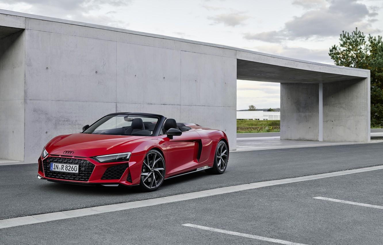 Photo wallpaper Audi, Audi R8, Spyder, V10, 2020, RWD