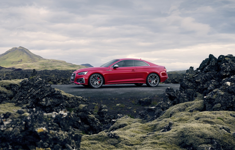Photo wallpaper Audi, TDI, side view, Coupe, Audi S5, 2020