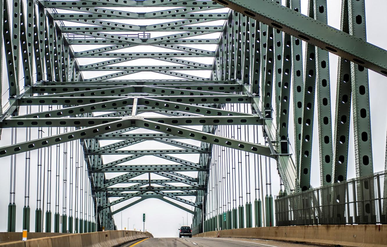 Photo wallpaper bridge, Pennsylvania, steel, Edgely, Bristol Township
