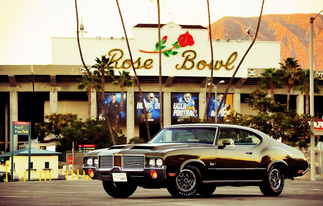 Photo wallpaper Muscle, Car, Old, Oldsmobile, Cutlass