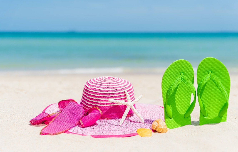 Photo wallpaper sand, beach, stay, star, hat, shell, summer, beach, vacation, sand, marine, slates, vacation, starfish, seashells