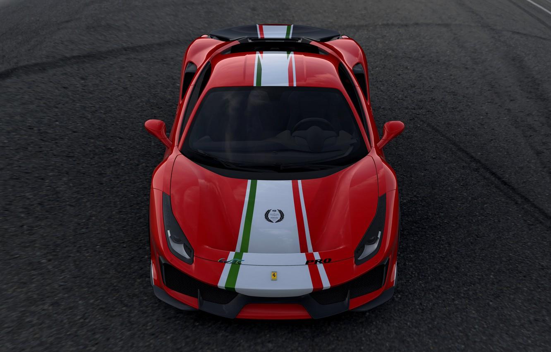 Photo wallpaper Ferrari, front view, 2019, 488 The Track The Ferrari Drivers