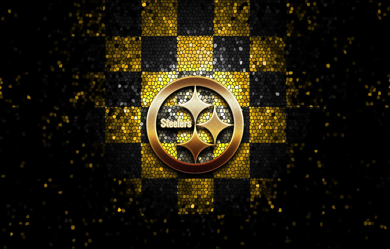 Wallpaper Wallpaper Sport Logo Nfl Glitter Checkered Pittsburgh Steelers Images For Desktop Section Sport Download