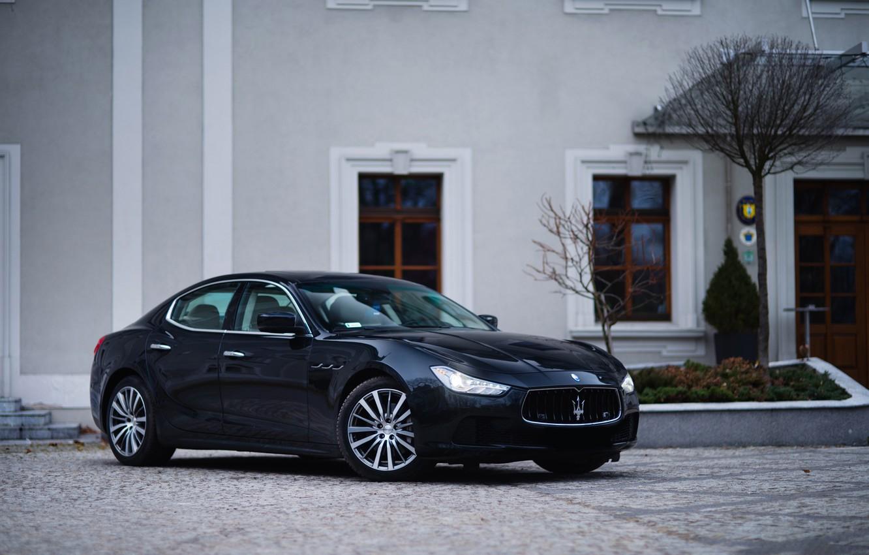 Photo wallpaper Maserati, Black, Ghibli