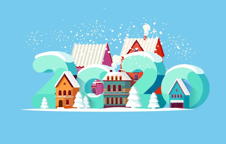 Photo wallpaper Christmas, New year, Happy New Year, Christmas, New Year, Happy Christmas, 2020