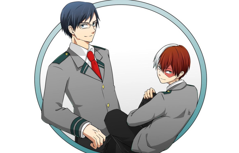 Wallpaper Round Guys Boku No Hero Academy Todoroki Shoto