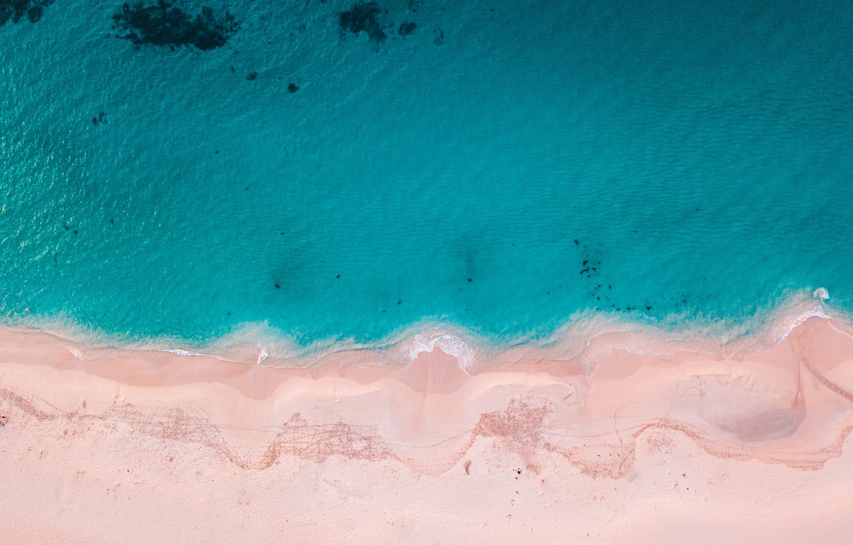 Photo wallpaper beach, ocean, blue water