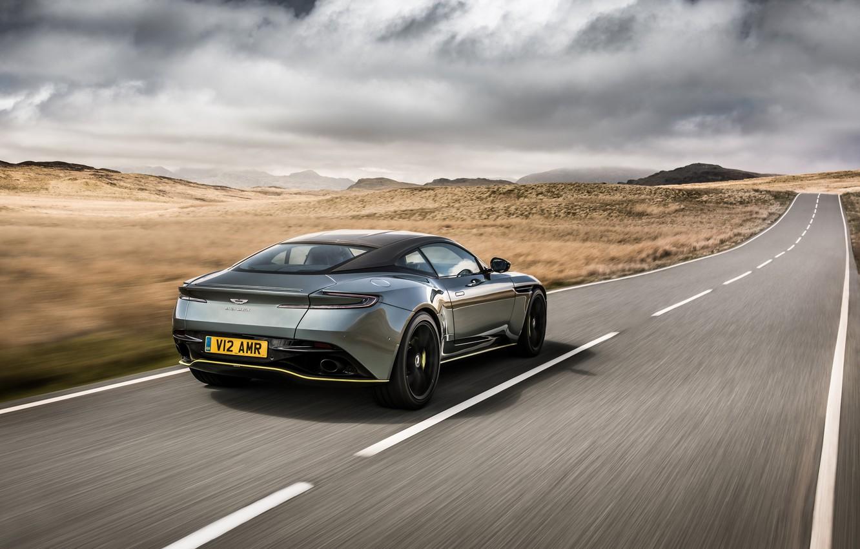 Photo wallpaper Aston Martin, rear view, 2018, DB11, AMR, Signature Edition