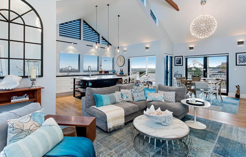 Wallpaper interior, kitchen, living room, dining room, Marou