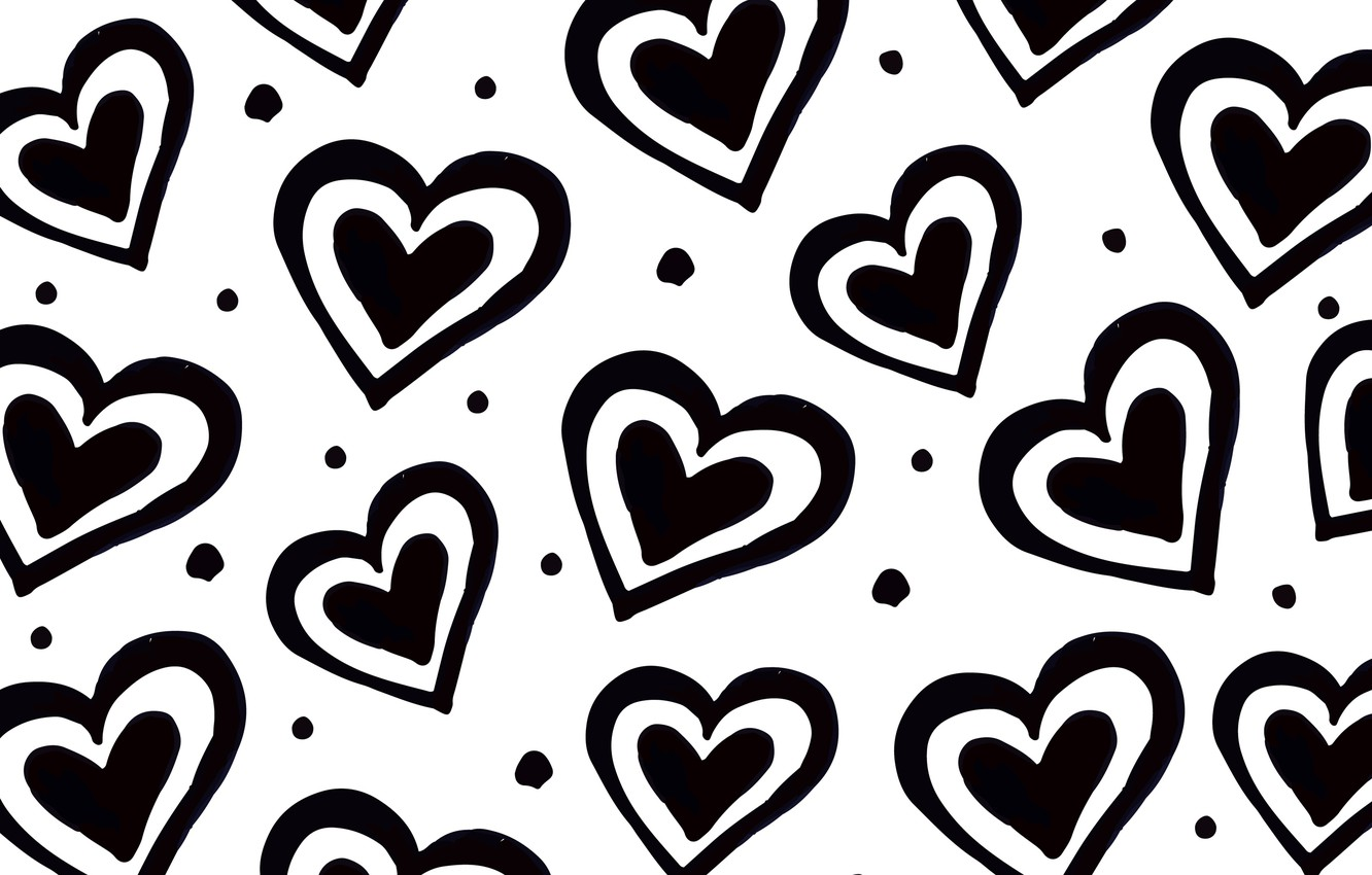 Photo wallpaper texture, hearts, white background, Background, Heart