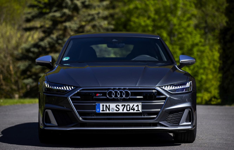 Photo wallpaper Audi, front view, Audi A7, 2019, dark gray, S7 Sportback