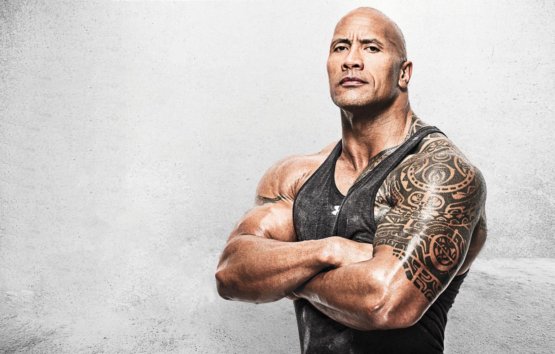 Photo wallpaper background, man, tattoo, Dwayne Johnson, Dwayne Johnson, Dwayne Johnson (The Rock)