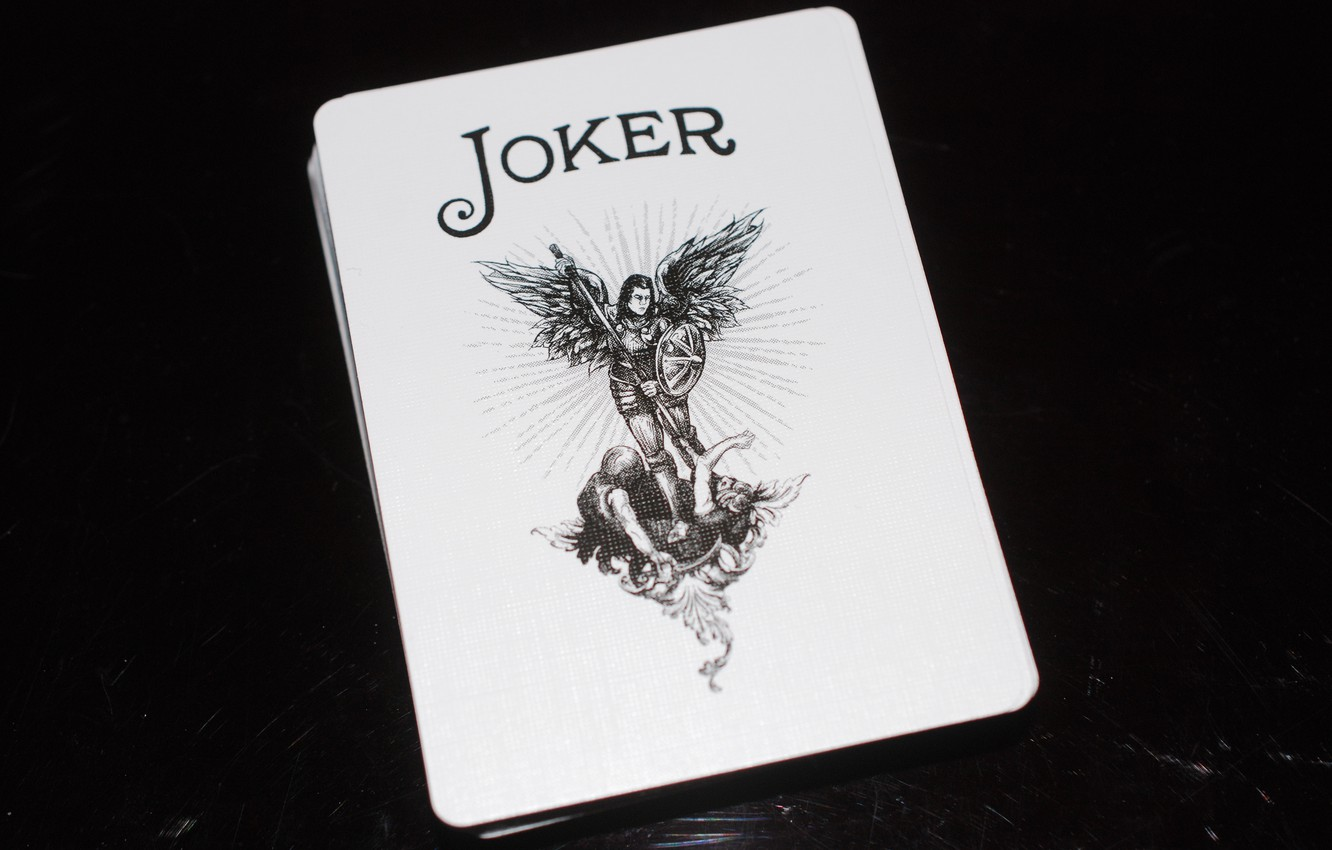 Photo wallpaper Joker, map, poker