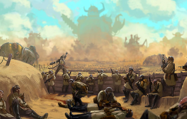 Wallpaper War Valhala Orcs War Imperial Guard Orcs Warhammer