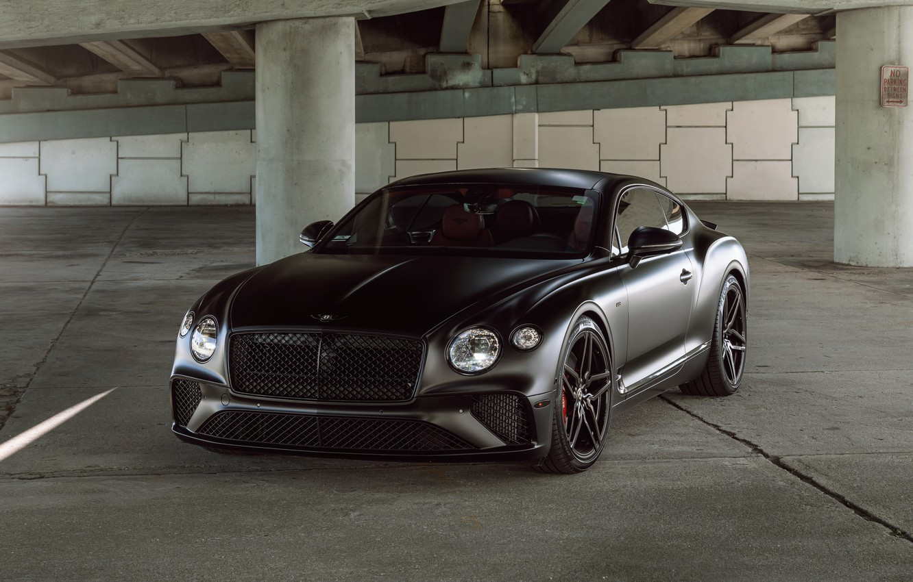 Photo wallpaper Bentley, Continental, Black