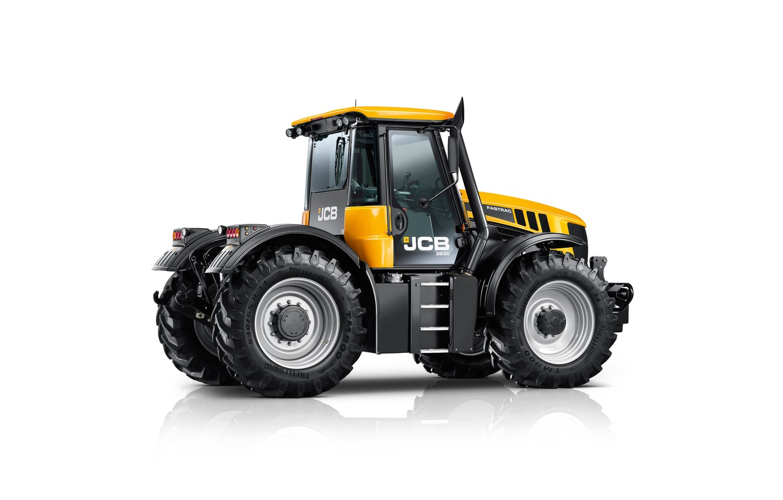 Photo wallpaper tractor, white background, JCB, Fastrac, 3230 Xtra