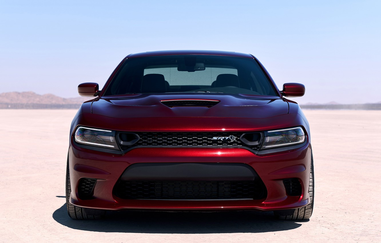 Photo wallpaper Dodge, front view, Charger, Hellcat, SRT, 2019